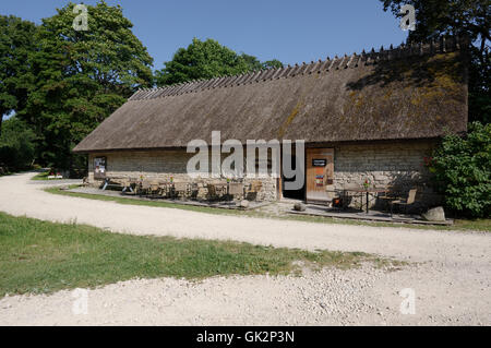 Art gallery and museum shop in Koguva Village in Island Muhu. Saaremaa, Estonia. - Stock Image