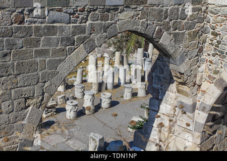 Europe, Greece. Kos Island. The Castle Of The Knights Of The Order Of Saint John. - Stock Image