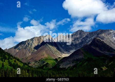 Kananaskis Rocky Mountains Alberta Canada mountain vista provincial park - Stock Image