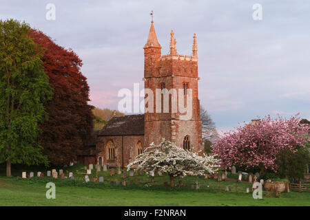 St Thomas of Canterbury church at Cothelstone. The church is situated just behind Cothelstone manor. - Stock Image