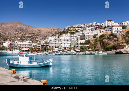 Agia Galini harbour in Crete Island, Greece - Stock Image