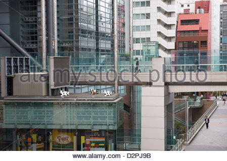 The Shiodome Shio Site Development in Central Tokyo Japan - Stock Image