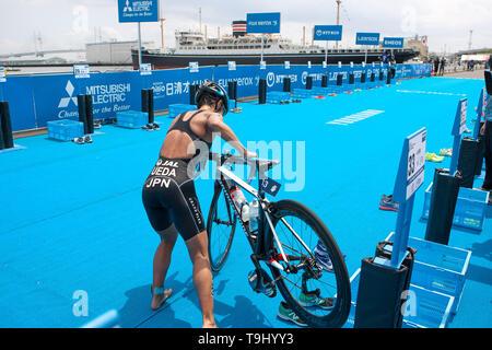 Yokohama, Japan. 18th May, 2019. 2019 ITU World Triathlon, World Paratriathlon Yokohama at Yamashita Park and Minato Mirai, Yokohama. Ueda (Photos by Michael Steinebach/AFLO) Credit: Aflo Co. Ltd./Alamy Live News - Stock Image