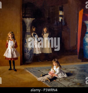 The Daughters of Edward Darley Boit, John Singer Sargent, 1882, Museum of Fine Arts, Boston, Mass, USA, North America - Stock Image