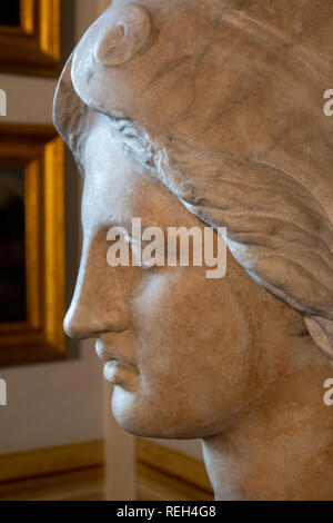 Italy Rome Galleria Spada Gallery Palazzo marble statue of a woman - Stock Image