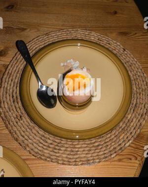 Boiled egg for breakfast - Stock Image