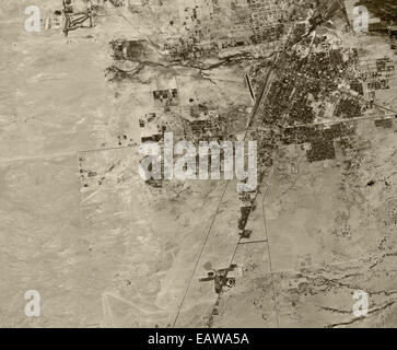 historical aerial photograph Las Vegas, Nevada, 1950 - Stock Image