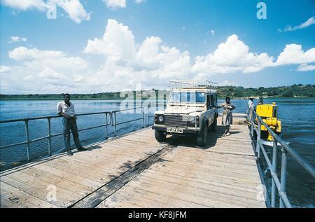 Uganda. Ferry on Lake Albert - Stock Image