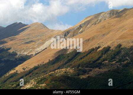 the Glorious slopes of Monte Sibilla in the Sibillini National Park Le Marche Italy - Stock Image