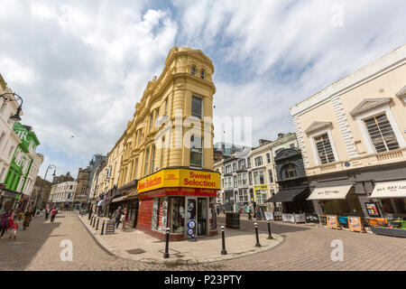Sweet selection shop in 52B Robertson St, Hastings, East Sussex, England , UK - Stock Image