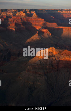 USA, Arizona, Grand Canyon at golden hour - Stock Image
