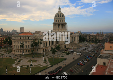 Cuba Havana Capitolio seen from the roof of the Hotel Saratoga Photo CUBA1211 Copyright Christopher P Baker - Stock Image