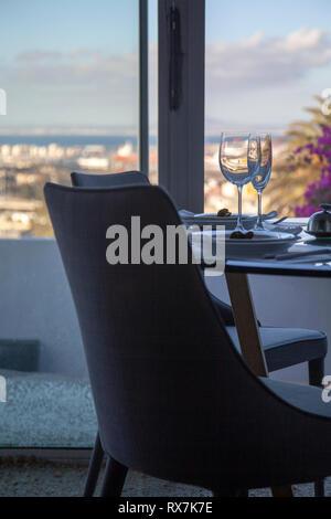 Set Table For Dinner - Stock Image