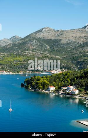 Kroatien, Dalmatien, Zaton bei Dubrovnik - Stock Image