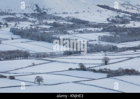 Paxton's Tower. UK. 11th December, 2017. Looking across the snow covered countryside. Brecon Beacons National - Stock Image