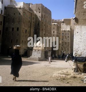 City centre Shibam Hadramaut Yemen - Stock Image