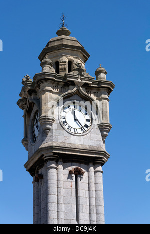 Exeter clock tower, Victorian memorial built in 1897 in memory of William Miles. - Stock Image