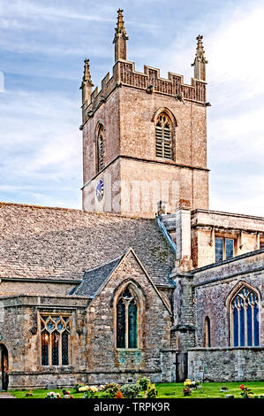 Stow-on-the Wold (Cotswolds, England): St Edward's Church - Stock Image