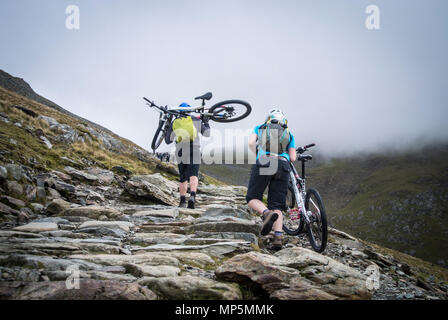 Llanberis path up Snowdon - Stock Image