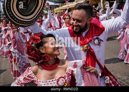 Colombian Cumbian Dancers - Stock Image