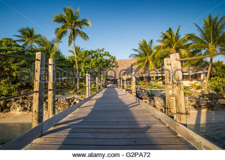 Arriving at Tikehau Pearl Beach - Stock Image
