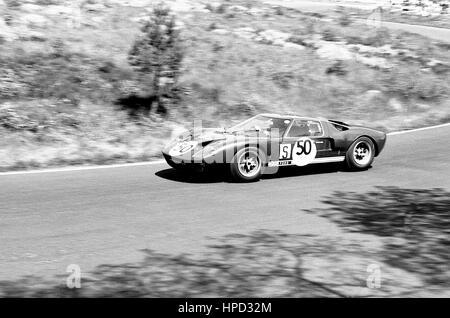 1966 Peter Sutcliffe GB Ford GT40 Nurburgring 1000Ks 6th - Stock Image