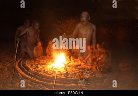 Bushman in a trance dance - Stock Image