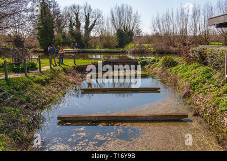 site of the old boat builders flatford suffolk - Stock Image