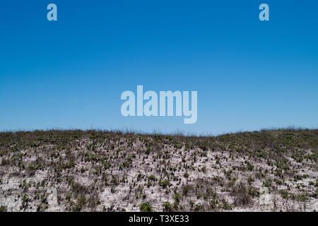 Sand dunes at the Gulf of Mexico beach at Perdido Pass in Orange Beach, Alabama, USA. - Stock Image