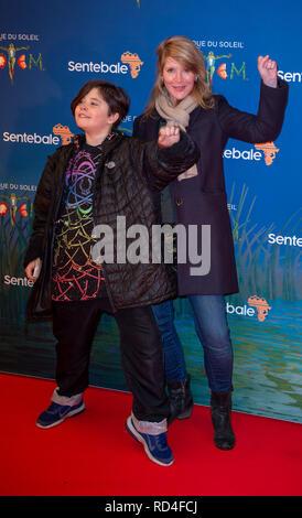 London, United Kingdom. 16 January 2019. Julia Davis arrives for the red carpet premiere of Cirque Du Soleil's 'Totem' held at The Royal Albert Hall. Credit: Peter Manning/Alamy Live News - Stock Image