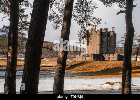 Braemar Castle, Scotland - Stock Image