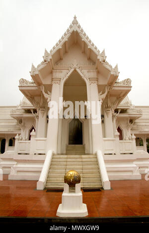 An ornate Buddhist temple in the grounds of Buddha's birth place, Lumbini, Nepal, Asia - Stock Image