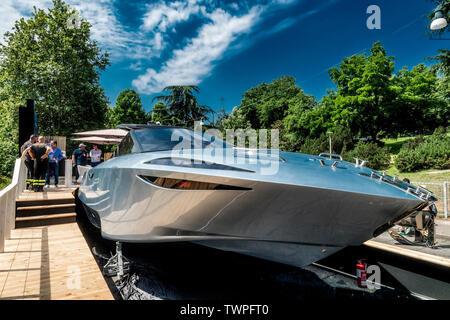 Turin, Piedmont, Italy. 22nd June 2019.Italy Piedmont Turini Valentino park Auto Show 2019 - Nadir Yacht Credit: Realy Easy Star/Alamy Live News - Stock Image