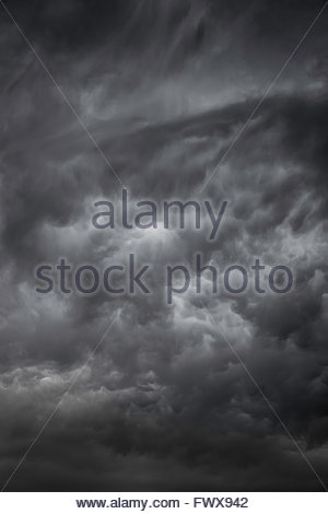 Stormy sky : threatening clouds - Stock Image