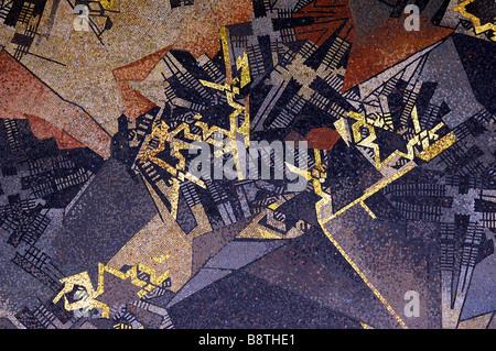 ehrenhof mosaic düsseldorf germany deutschland art design graphic - Stock Image