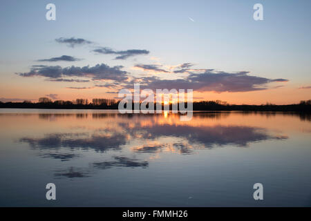 Sunset by the Lake - Stock Image