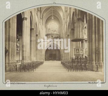 Charles Scolik Votivkirche Blick zur Orgel - Stock Image