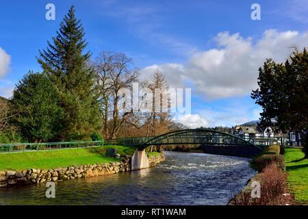 River Greta, Keswick ,Cumbria,Lake District,England ,UK - Stock Image