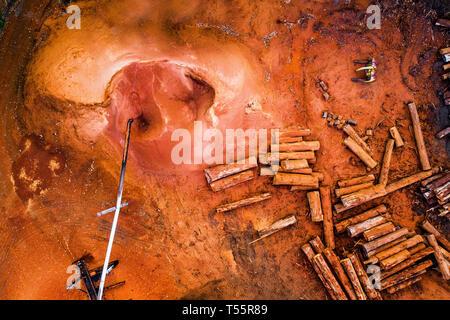 Wood Mil in Southwest Western Australia - Stock Image