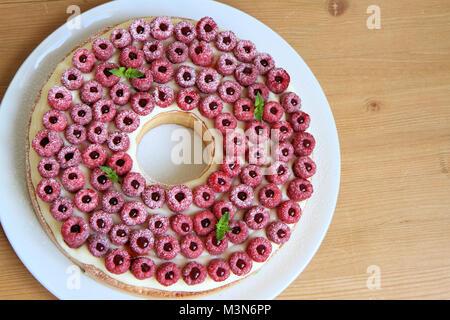 Raspberries tart, Cyril Lignac Style - Stock Image
