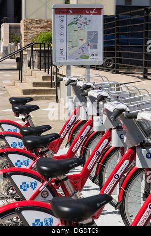 B cycles at B station Houston Texas - Stock Image