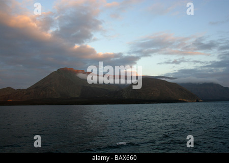 Sunset Over Santa Cruz (Indefatigable), Galapagos Islands, Ecuador, South America - Stock Image