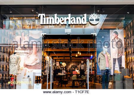 Timberland store, UK. - Stock Image