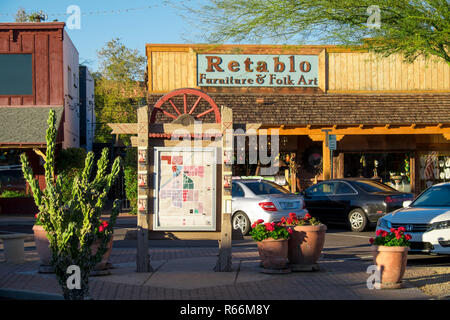 Stores in Old Town Scottsdale, Scottsdale, Phoenix, Arizona, USA - Stock Image