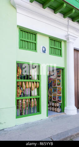 Souvenir shop in Havana Cuba filled with colourful items meant for tourists. - Stock Image