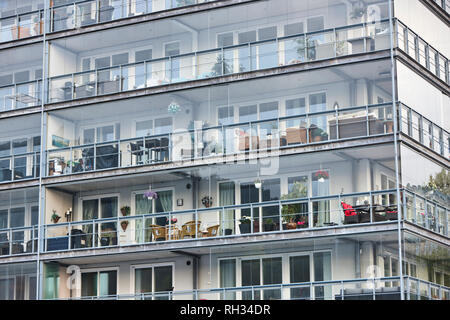 Building with balconies - Stock Image