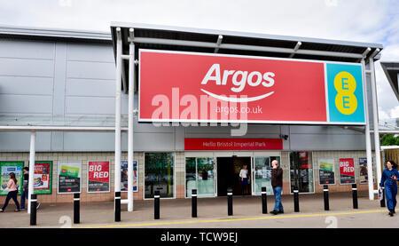 Outside Argos department store, Imperial Retail Park, Bristol - Stock Image