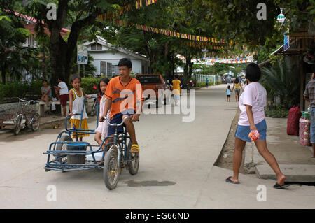 Streets of the village El Nido. Philippines. El Nido (officially the Municipality of El Nido) is a first class municipality - Stock Image