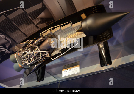 The Sabre – the Synergistic Air-Breathing Rocket Engine - design overcomes the problems encountered by conventional - Stock Image