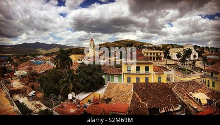 Trinidad Cuba on a stormy day - Stock Image